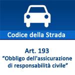 Codice della Strada, articolo 193  Obbligo dell