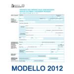 Modello 2012 Imposta Assicurazione Auto Premi e Accessori