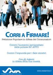 SNA Petizione Popolare in difesa dei Consumatori (locandina)