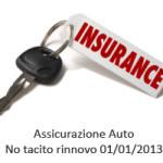 Eliminato tacito rinnovo polizza assicurazione auto